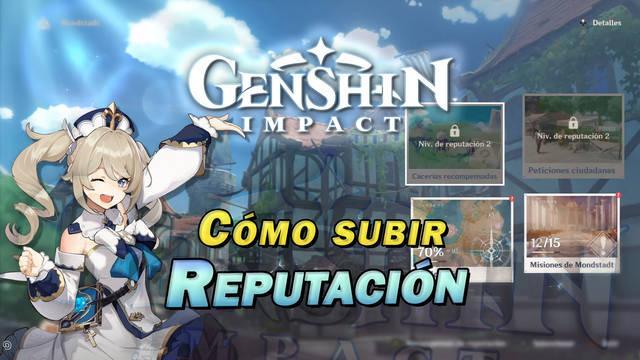 Genshin Impact: Cómo subir EXP de reputación y recompensas