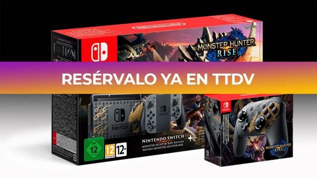 TTDV abre las reservas de la Switch edición especial de Monster Hunter Rise.