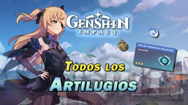 Genshin Impact: TODOS los artilugios, cómo conseguirlos y usos