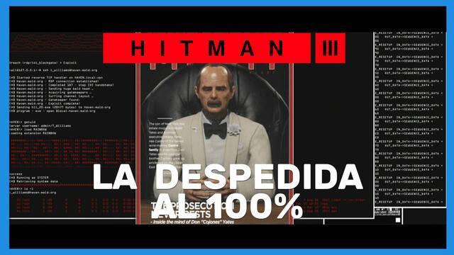 La despedida en Hitman 3 al 100%