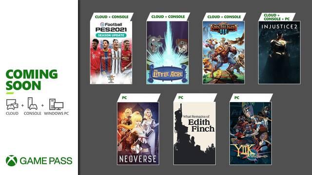 Juegos de enero en Xbox Game Pass.