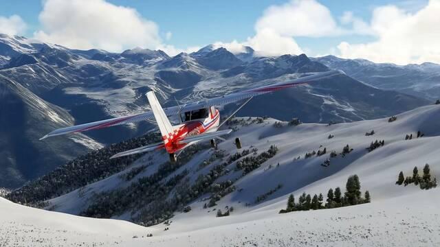Microsoft Flight Simulator presenta su nieve a tiempo real.
