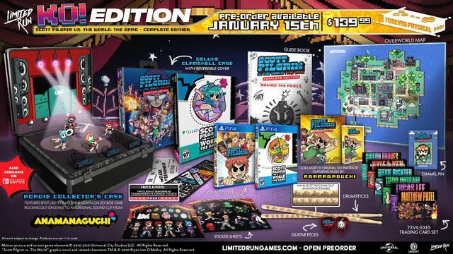 Scott Pilgrim vs the world edicion coleccionista limited run games