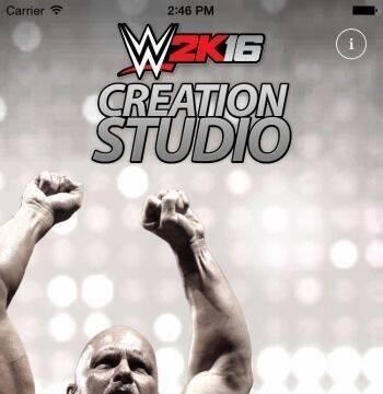 Presentada la aplicación para iOS y Android de WWE 2K16, 'Estudio de creación'