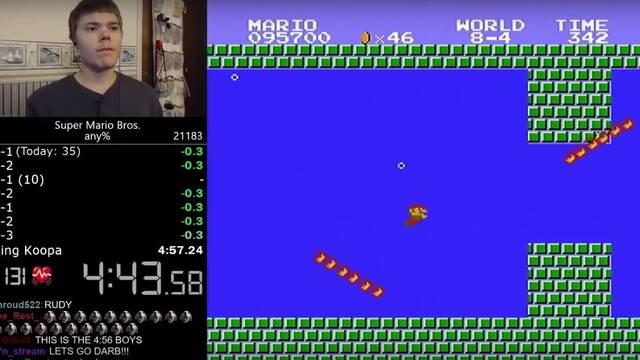 Nuevo récord mundial de velocidad con Super Mario Bros.