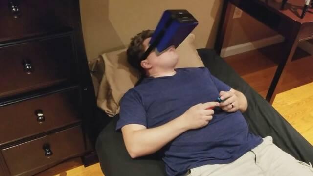 Crean un visor casero de Nintendo Switch para 'jugadores vagos'