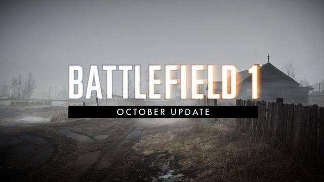 Battlefield 1 añade cambios con la actualización de octubre