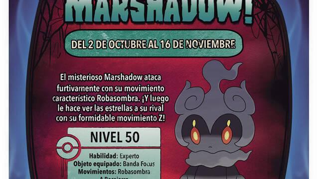 GAME distribuirá en su Nintendo Zone al Pokémon Marshadow de Sol y Luna