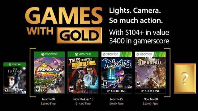 Anunciados los Juegos con Gold de noviembre