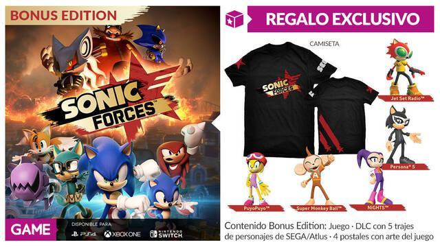 GAME detalla sus incentivos por reserva para Sonic Forces