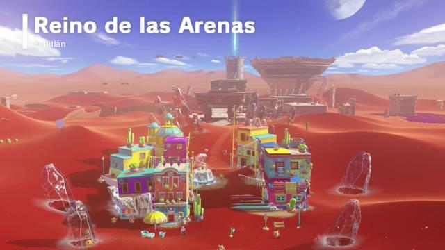 Reino de las Arenas en Super Mario Odyssey: Energilunas y secretos