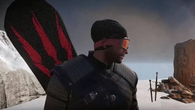 CD Projekt creó un Geralt con tabla de snowboard en The Witcher 3