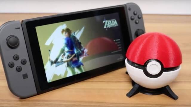 Crean una funda con forma de Poké Ball para los cartuchos de Nintendo Switch
