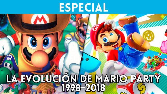 Así es la evolución de la saga Mario Party de Nintendo 64 a Switch