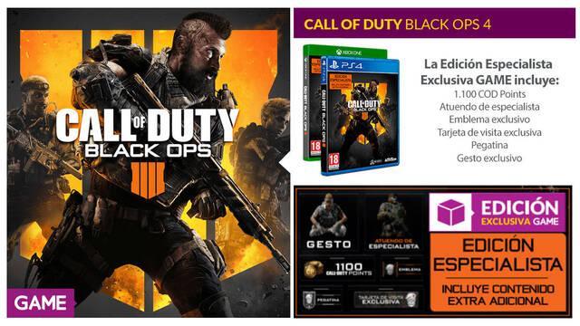 GAME detalla sus productos, ediciones y merchandising de Black Ops 4