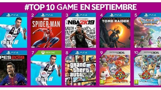 FIFA 19 fue el juego más vendido de GAME durante el mes de septiembre