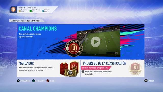 Así es FUT Champions (La Jornada) y Division Rivals en FIFA 19