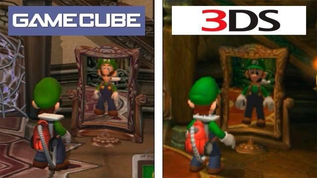 Comparan la versión de Game Cube de Luigi's Mansion con la de 3DS