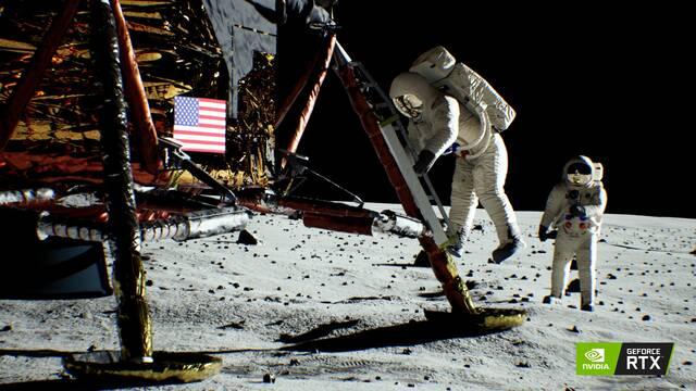 Recrean la llegada del hombre a la Luna gracias a las tarjetas GeForce RTX