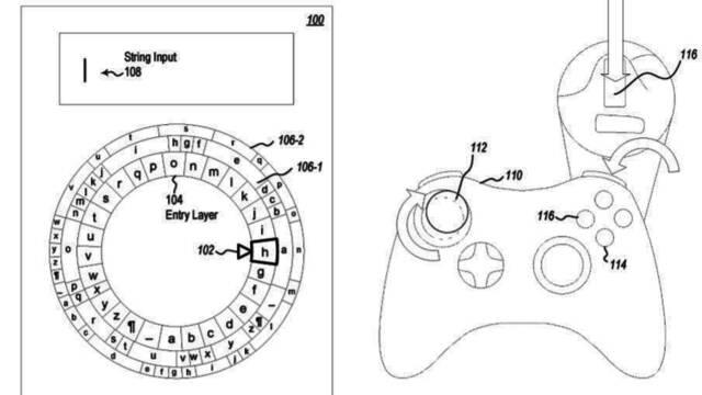Microsoft patenta un teclado radial diseñado para usar con el mando