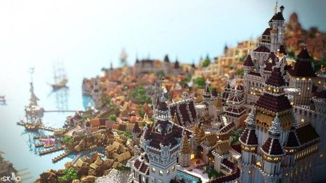Recrean la ciudad de Novigrado de The Witcher 3 en Minecraft con gran detalle