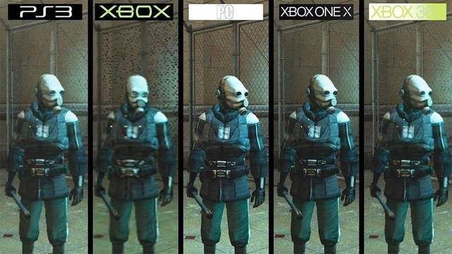 Comparan los gráficos de Half-Life 2 en todas sus versiones