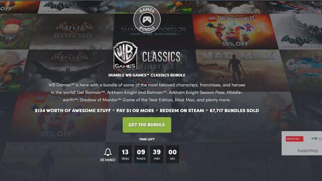 El nuevo Humble Bundle está dedicado a juegos de WB Games