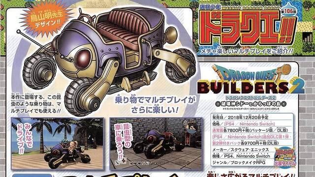 Cuatro jugadores podrán construir unidos en Dragon Quest Builders 2