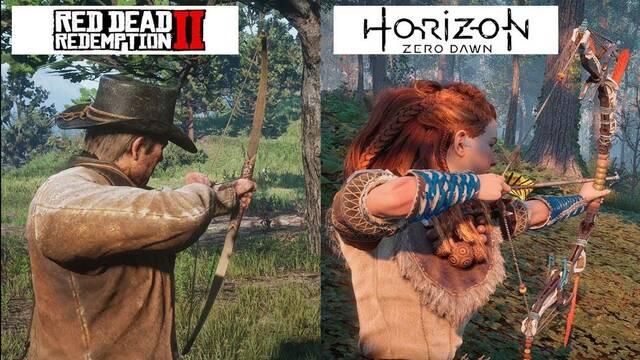Comparan los gráficos de Horizon Zero Dawn con Red Dead Redemption 2