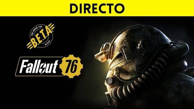 Jugamos en directo a la beta de Fallout 76 a partir de las 23:30