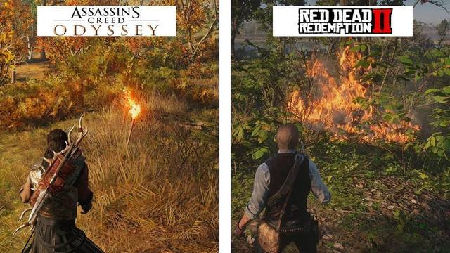 Comparativa gráfica entre Red Dead Redemption 2 y Assassin's Creed Odyssey