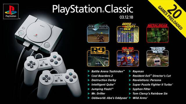 PlayStation Classic: La lista completa de 20 juegos