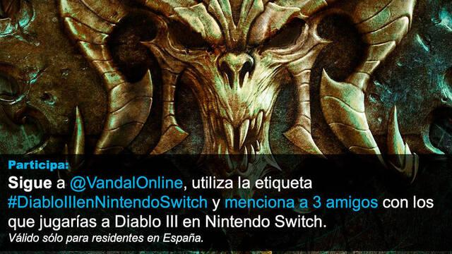 Gana con Vandal un pack de Nintendo Switch y Diablo III: Eternal Collection