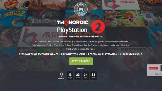 El nuevo Humble Bundle está dedicado a THQ Nordic en PlayStation 4