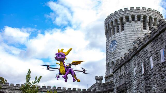 Así es el dron de Spyro a tamaño real que ha presentado Activision