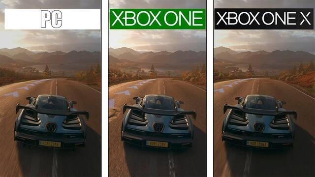 Comparan los gráficos finales de Forza Horizon 4 en Xbox One, One X y PC