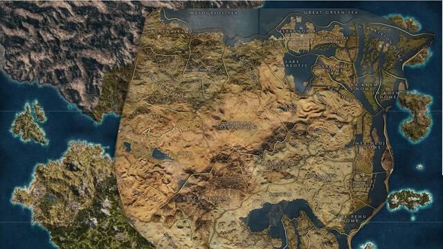 El mapa de Assassin's Creed Odyssey es casi 3 veces mas grande que en Origins