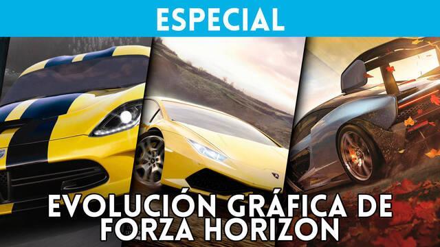 La evolución gráfica de la saga Forza Horizon desde 2012 hasta ahora