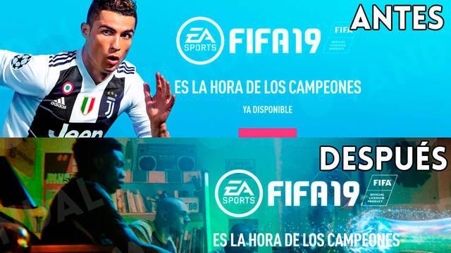 EA Sports elimina silenciosamente a Cristiano Ronaldo de la web de FIFA 19