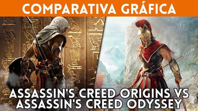 Assassin's Creed Odyssey vs AC Origins: Comparativa gráfica