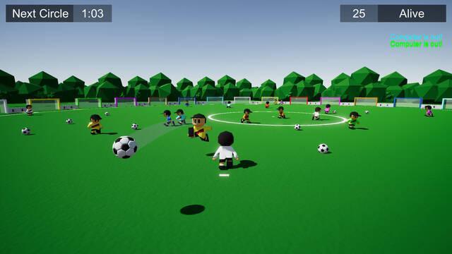 Así es Soccer Battle Royale, un 'battle royale' con temática de fútbol