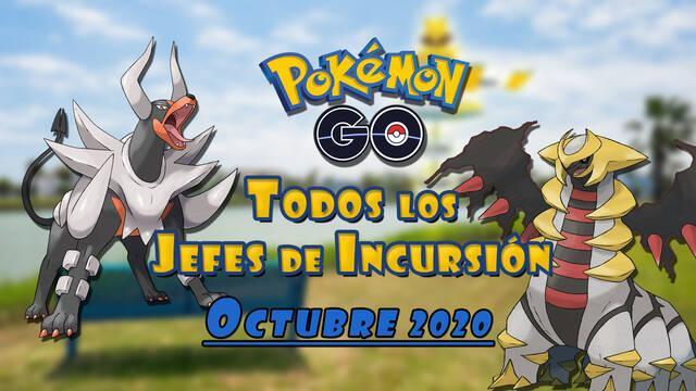 Pokémon Go: Todos los jefes de incursión de Octubre 2020 (nivel 1, 3, 5 y Mega)