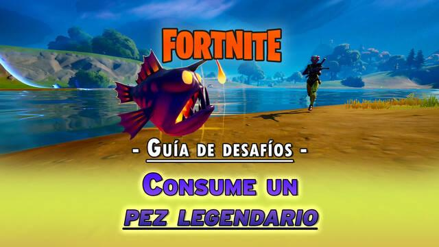 Fortnite: Consume un pez legendario - SOLUCIÓN