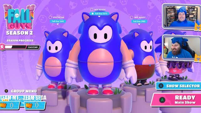 Fall Guys: Ultimate Knockout recibirá un disfraz de Sonic mañana