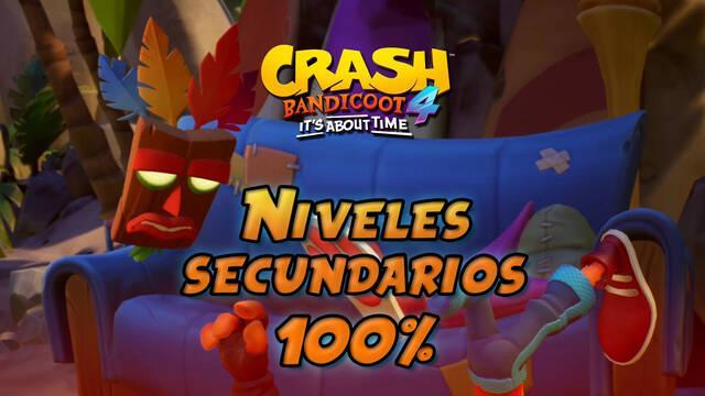 Crash Bandicoot 4: TODOS los niveles secundarios al 100%, cajas y secretos