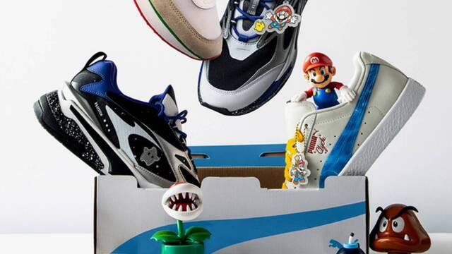Zapatos de Super Mario 3D All-Stars en colaboración con Puma.