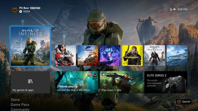 Xbox One Series interfaz nueva