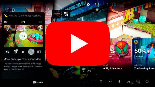 PS5 interfaz vídeo éxito Youtube 6 millones