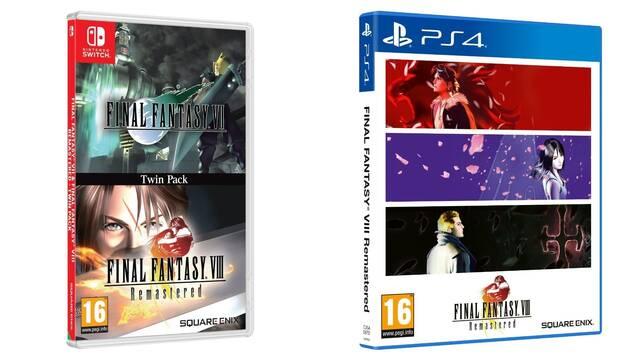 Las ediciones físicas de Final Fantasy VII y VIII llegarán a Europa el 4 de diciembre