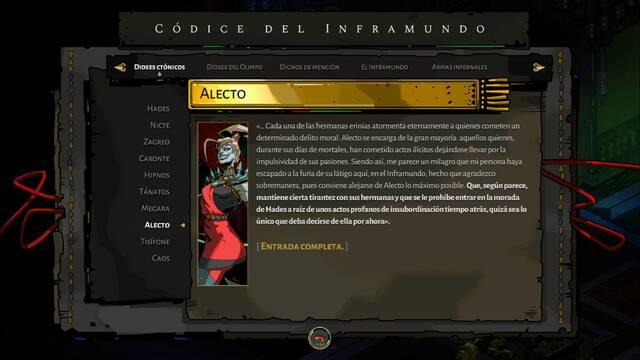Alecto y cómo derrotarla en Hades